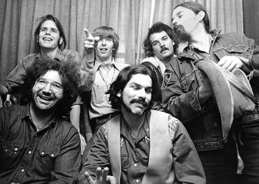 The Grateful Dead (clockwise): Bob Weir, Phil Lesh, Bill Kreutzmann, Ron