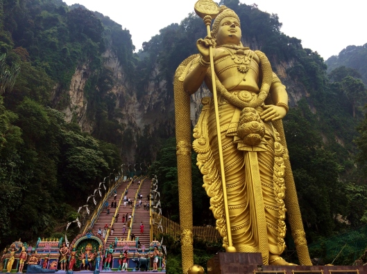 The entrance to the Batu Caves.