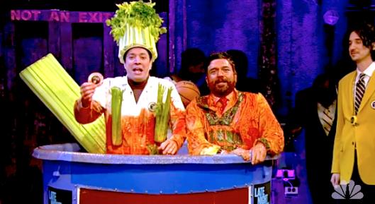 Jimmy Fallon as an important Bloody Mary garnish: Celery. Photo Source: http://fallontonight.tumblr.com/